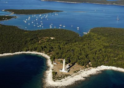 Lighthouse on shores of Dugi Otok