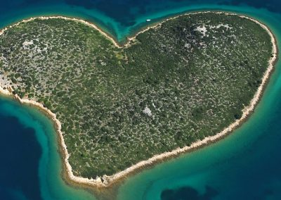 Heart shaped island Galešnjak