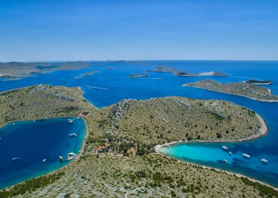 Coastline of Kornati islands