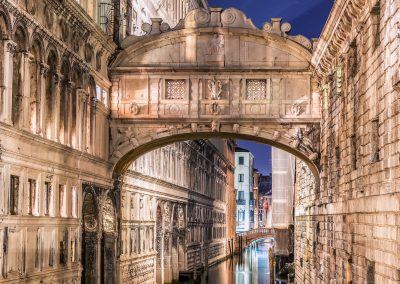 Archway over the canal in Venice