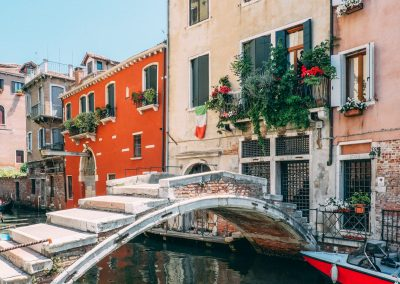 Bridge over the canal in Venice